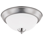 Euri Lighting 11W Brushed Nickel LED Ceiling Light, 3000K