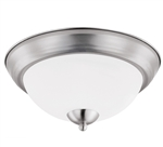 Euri Lighting 19W Brushed Nickel LED Ceiling Light, 3000K