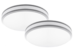 "Euri Lighting 14"" 16W Round LED Ceiling Light, 3000K, Set of 2"