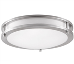 Euri Lighting 16W Brushed Nickel Round LED Ceiling Light, 4000K