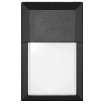 Euri Lighting 12W Mini LED Wall Pack, 3000K, No Sensor