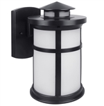 Euri Lighting 11.5W LED Wall Lantern, 3000K, Frosted Glass Lens