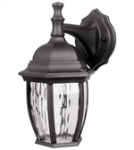 Euri Lighting 6.4W LED Wall Lantern, 3000K, Water Glass Lens