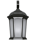 Euri Lighting 12.5W LED Wall Lantern, 3000K, Frosted Glass Lens