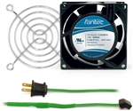 GCAB700 80 mm 120V Cooling Fan Kit w/ Green Fan Cord