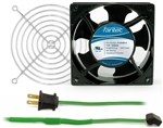 GCAB702 120 mm 120V Cooling Fan Kit w/ Green Fan Cord
