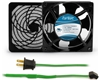 GCAB703 120 mm 120V Cooling Fan Kit w/ Green Fan Cord