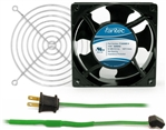 GCAB704 120 mm 120V Cooling Fan Kit w/ Green Fan Cord