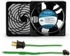 GCAB705 120 mm 120V Cooling Fan Kit w/ Green Fan Cord