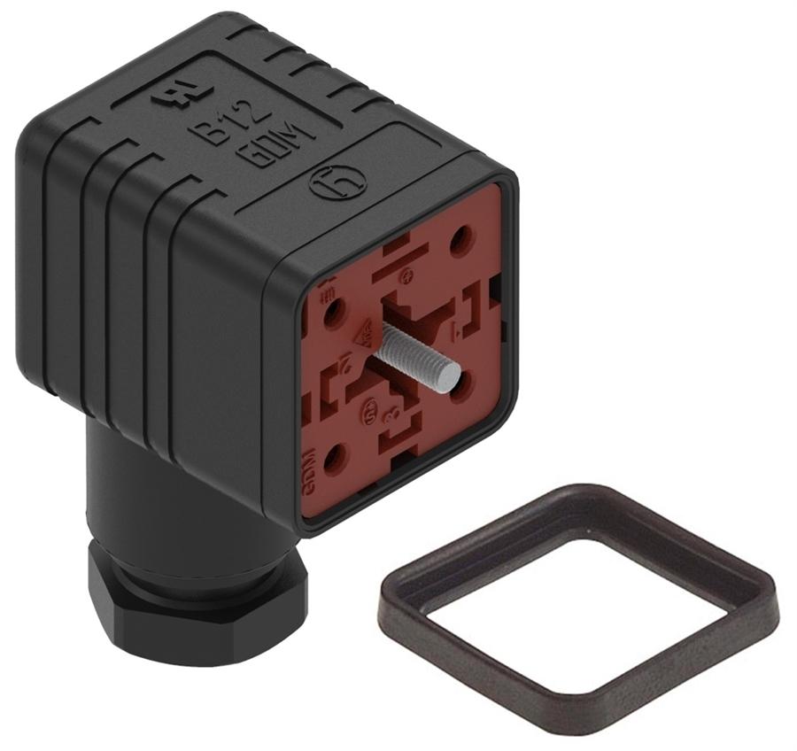 Hirschmann DIN 43650 A Solenoid Valve Connector Cable Mount Female Male