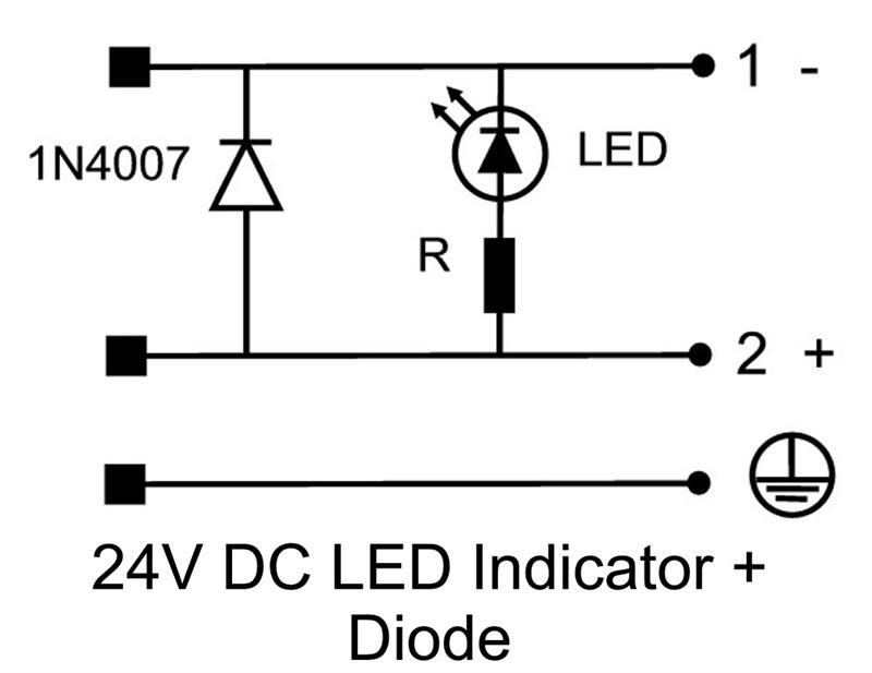 hirschmann din 43650 form a pg 9  24v led  diode  nbr profile
