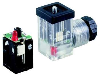 HTP LED Circuited Din Valve Connector