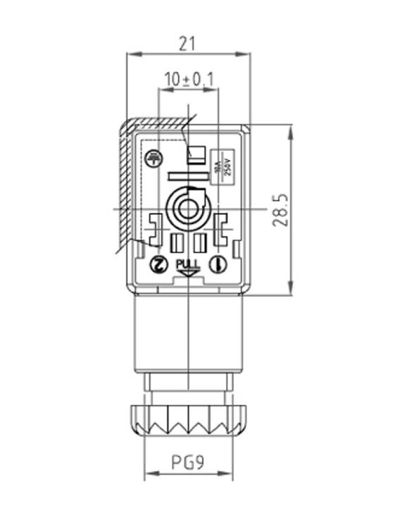 H512ZRC2930 4?1447325690 htp din 43650 24v form b 10mm, led, diode