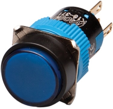 Kacon K16-271-B-24V 16 mm Push Button, Round, Blue