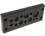 Mencom KADP-24-13 Cable Entry Plate, 2 3.0-5.5mm, 6 4.1-8.1mm, 4 9.0-14.0mm, 1 14.0-20.0mm Entries