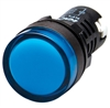 Kacon KPL-B-110V 22 mm Pilot Lamp, Round, Blue