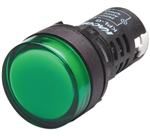 Kacon KPL-G-12V 22 mm Pilot Lamp, Round, Green