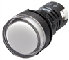 Kacon KPL-W-220V 22 mm Pilot Lamp, Round, White