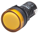 Kacon KPL-Y-12V 22 mm Pilot Lamp, Round, Yellow