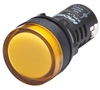 Kacon KPL-Y-220V 22 mm Pilot Lamp, Round, Yellow