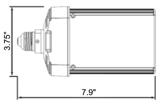light efficient design led e wall pack light k w light efficient design led 8088e57 50w wall pack
