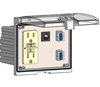 Mencom LP3-GF-2USB-AFAF-R Low Profile Programming Port