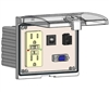 Mencom LP3-GF-DB9M-RJ45-R Low Profile Programming Interface