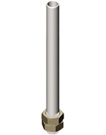 Menics Threaded Tower Light Pole, 20mm Diameter, 240mm