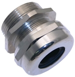 "MCG-1.25 1-1/4"" NPT Nickel Plated Brass Strain Relief Fitting"