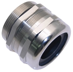 "MCG-2.0 2"" NPT Nickel Plated Brass Strain Relief Fitting"