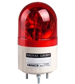 Menics 66mm Beacon Light, 24V, Red, Rotating