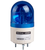 Menics 66mm Beacon Light, 110V, Blue, Rotating