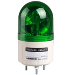 Menics 66mm Beacon Light, 110V, Green, Rotating