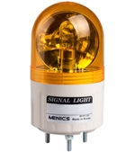 Menics 66mm Beacon Light, 110V, Yellow, Rotating