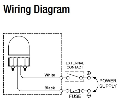 beacon light wiring diagram online wiring diagrammenics mlg 10 y 66mm beacon light, 110v, yellow, rotatingbeacon light wiring diagram