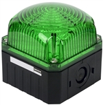 Menics 95 mm Cube Beacon Light, 12-24V, Green