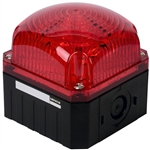 Menics 95 mm Cube Beacon Light, 12-24V, Red