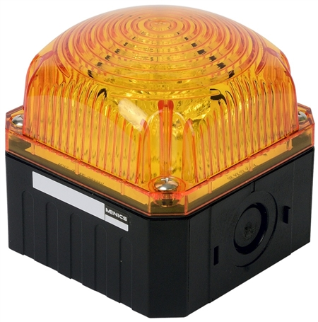 Menics 95 mm Cube Beacon Light, 12-24V, Yellow