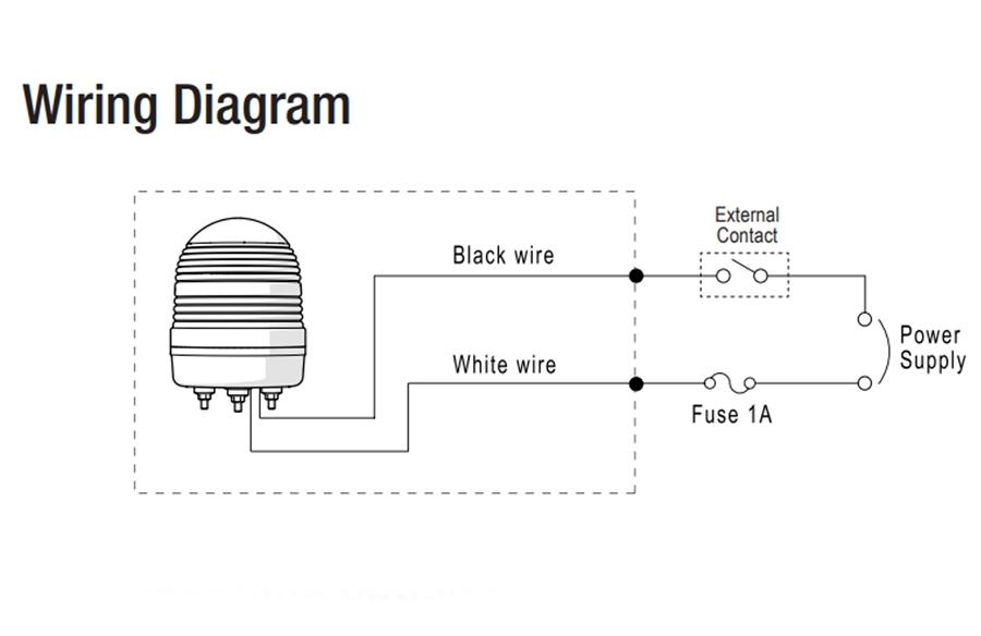 menics ms86l-b02-b 86mm led beacon light, 24v, blue, w/ alarm  products for automation