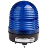 Menics 86mm LED Beacon Light, 90-240V, Blue, w/ Alarm