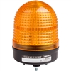 Menics 86mm LED Beacon Light, 90-240V, Yellow, w/ Alarm