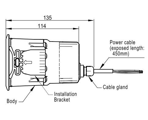 Menics MSP-LPS-01-R Panel Mount Alarm, Lead Wire, Siren