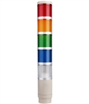 Menics MT4B5CL-RYGBC 5 Tier Tower Light, Red/Yellow/Green/Blue/Clear