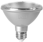 Kobi Electric PAR30S-75-30-FL 11W PAR30 LED Light, 3000K, Short Neck