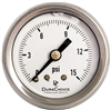 "DuraChoice PB158B-015 Oil Filled Pressure Gauge, 1-1/2"" Dial"