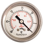"DuraChoice PB158B-V00 Oil Filled Vacuum Gauge, 1-1/2"" Dial"