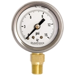 "DuraChoice PB158L-015 Oil Filled Pressure Gauge, 1-1/2"" Dial"
