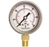 "DuraChoice PB158L-060 Oil Filled Pressure Gauge, 1-1/2"" Dial"