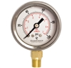 "DuraChoice PB158L-100 Oil Filled Pressure Gauge, 1-1/2"" Dial"