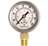 "DuraChoice PB158L-160 Oil Filled Pressure Gauge, 1-1/2"" Dial"